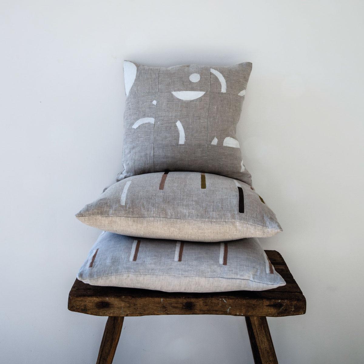Ren-London-Collage-Cushion-White