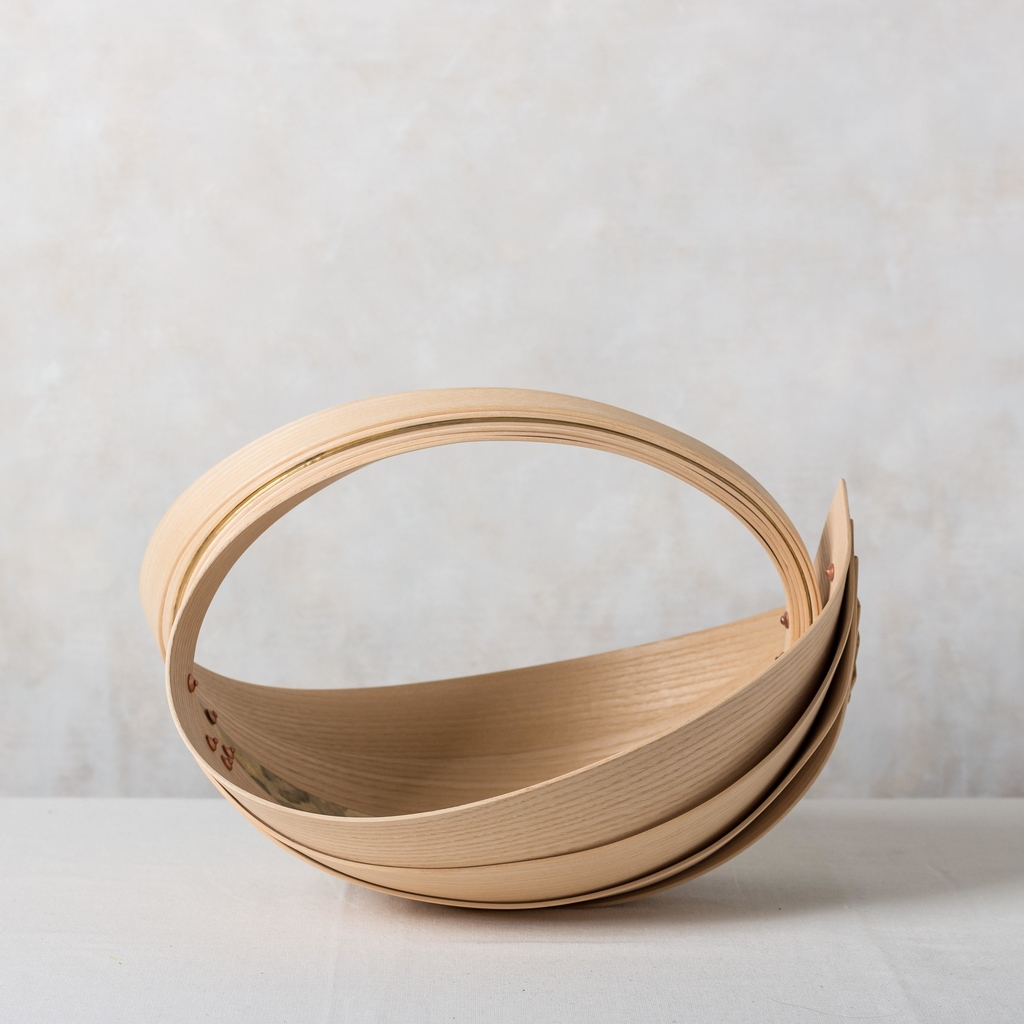 Small Ash & Brass Trug 2