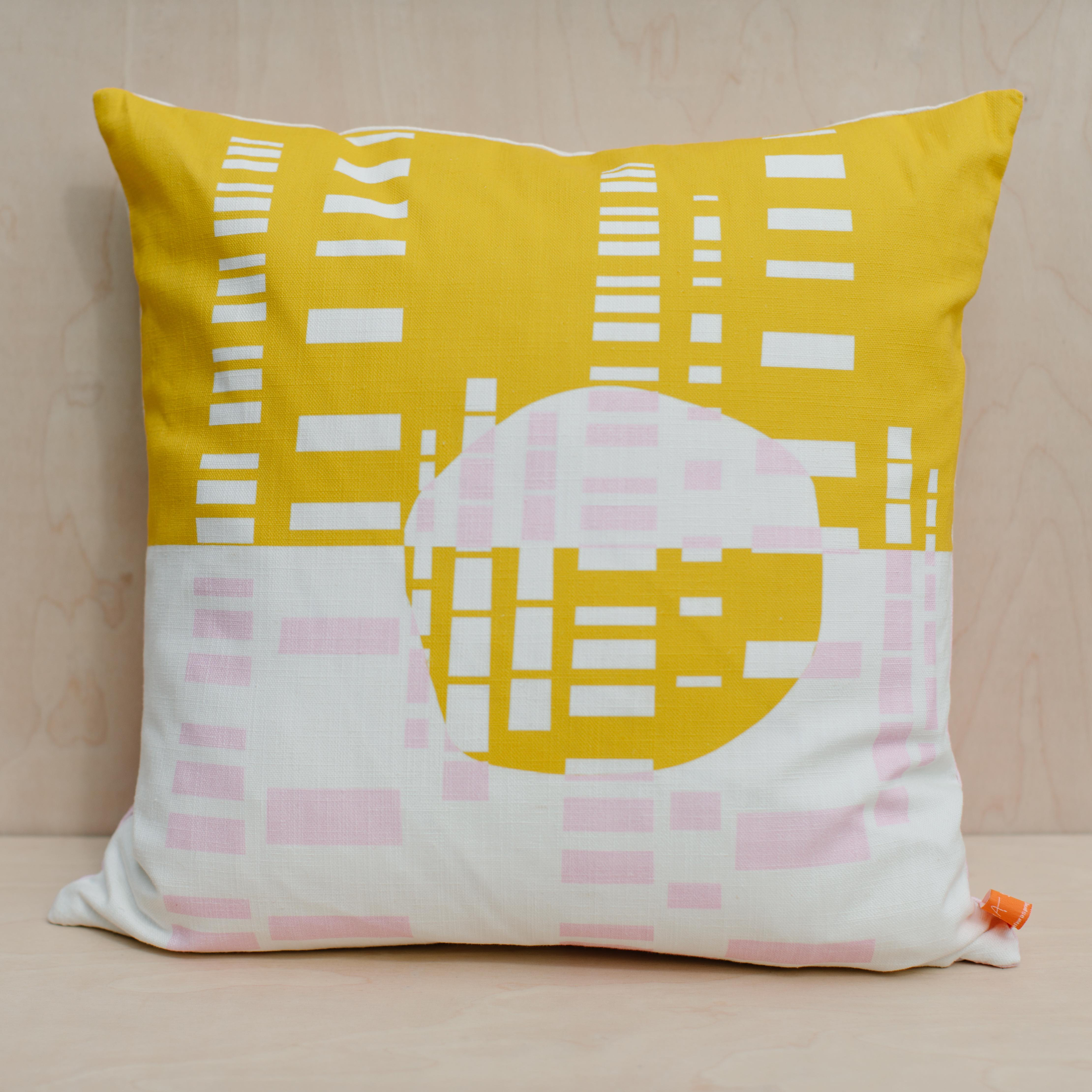 The Room Service | LAURA SPRING | Cushion | Forest Mustard & Pink