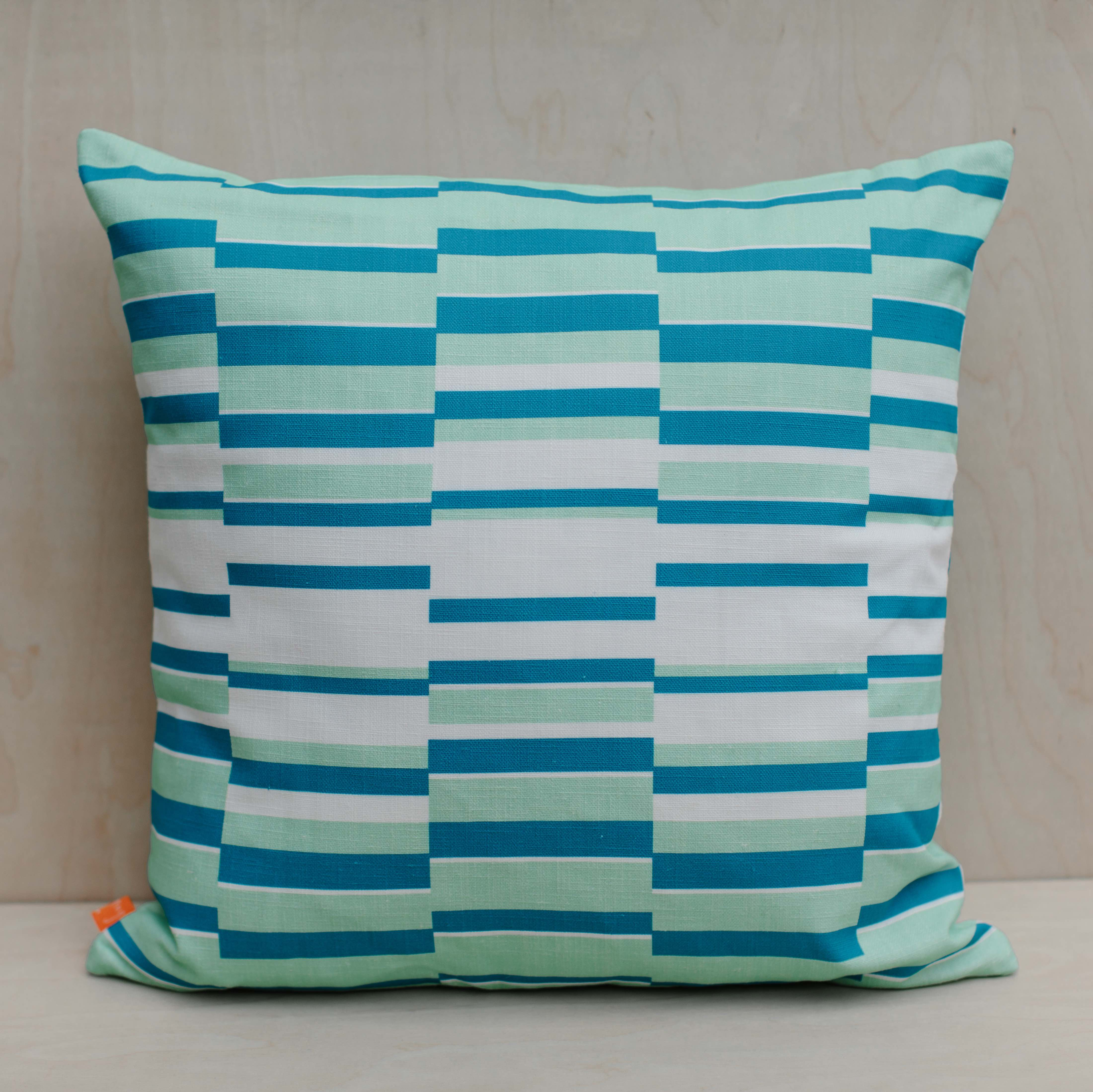 The Room Service | LAURA SPRING | Cushion | Solstice Green & Blue