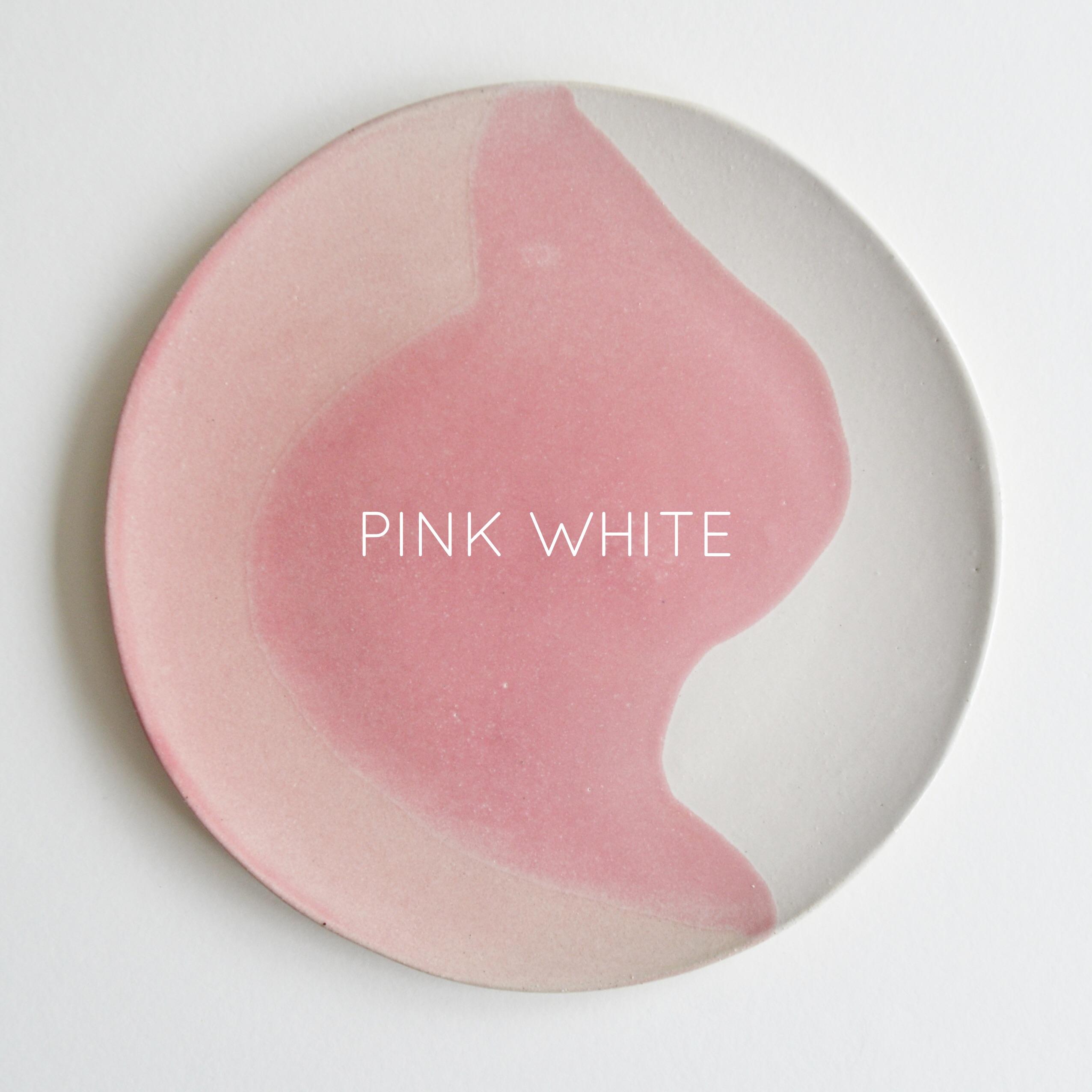 Glacier Dinner Plate | Pink White | Named