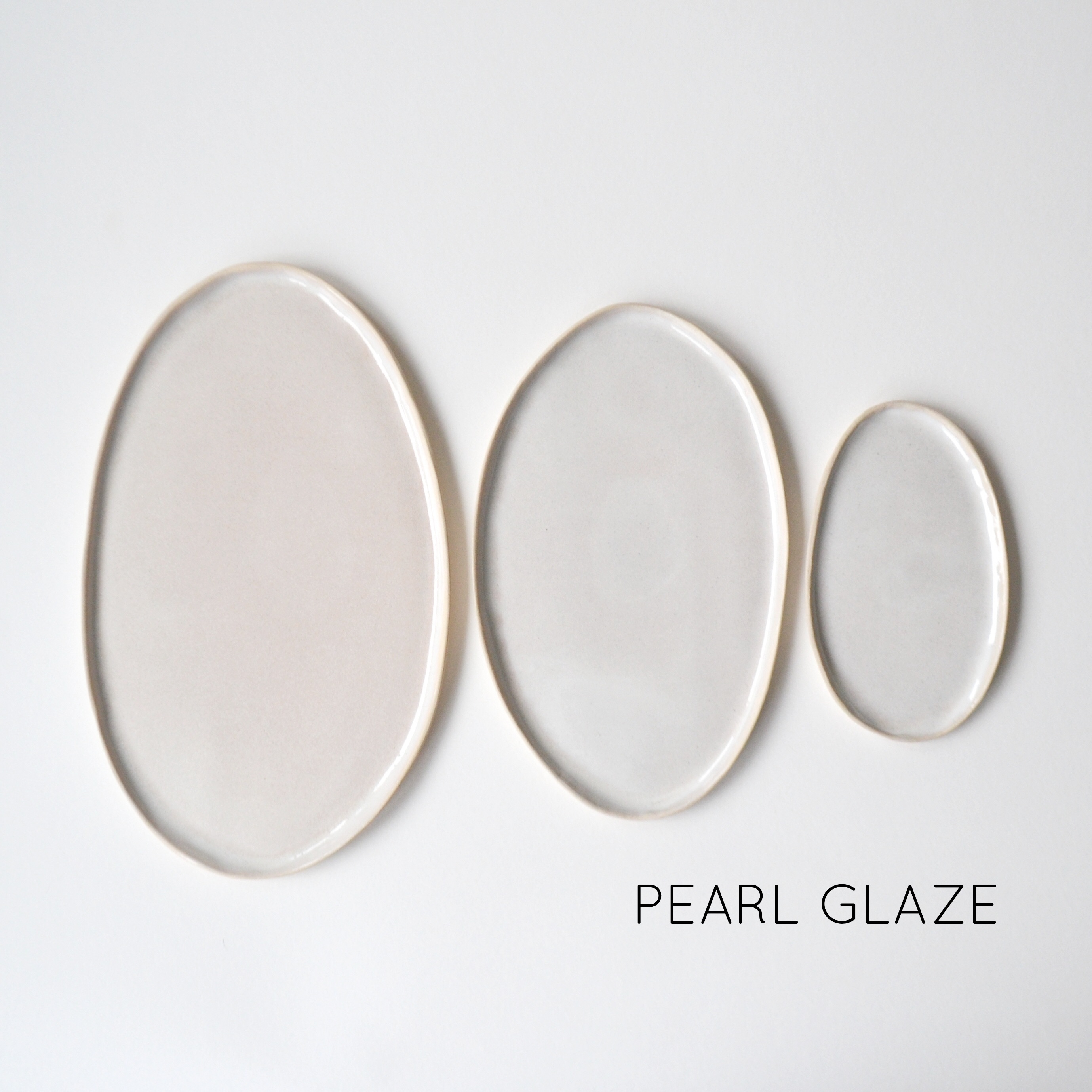 Ovals | Set of Three | Pearl | Named