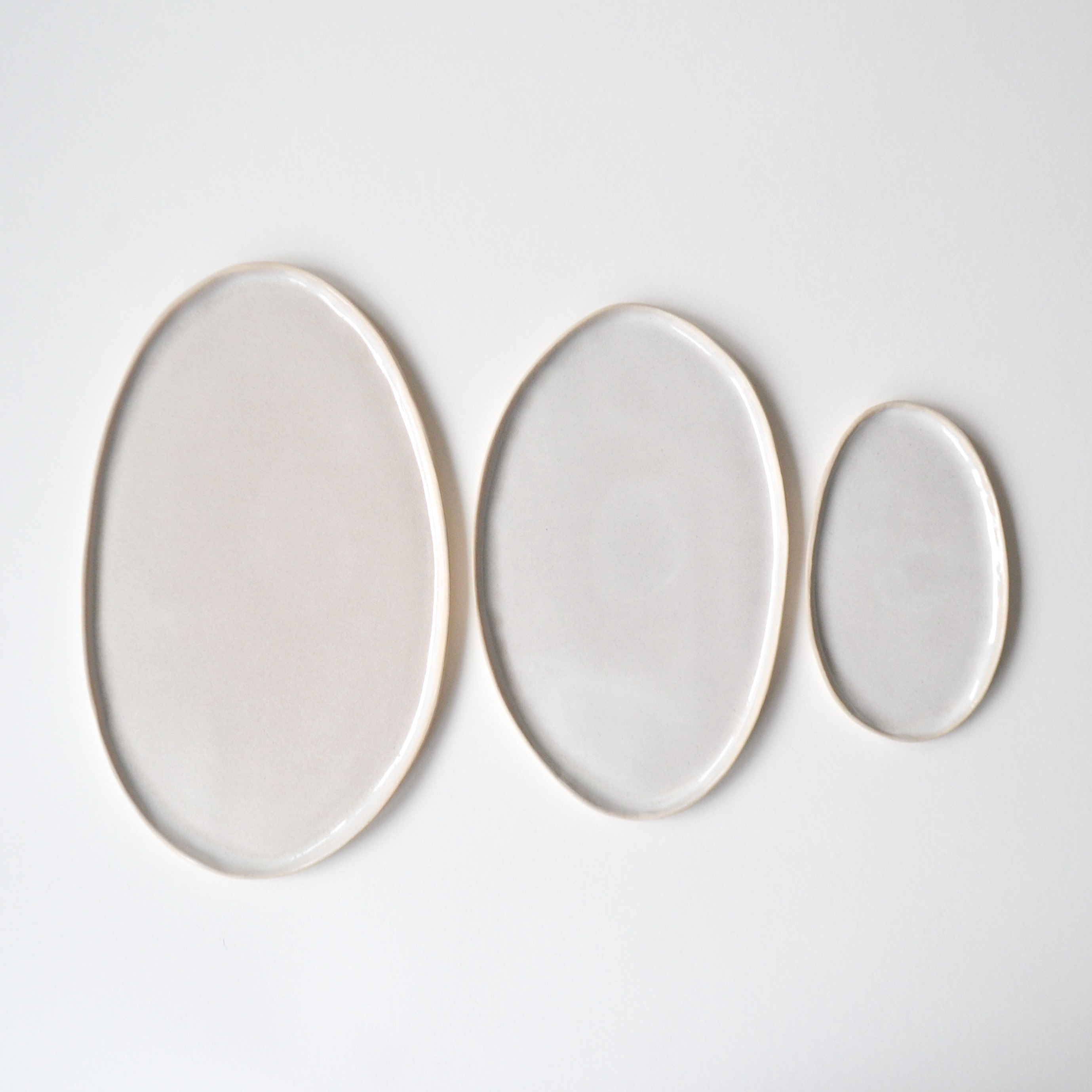 Set of 3 Ovals in Pearl